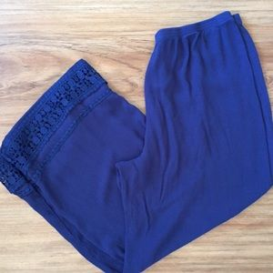 New Directions palazzo Navy Blue pants